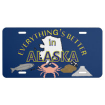 Everything's Better in Alaska Graphics License Plate