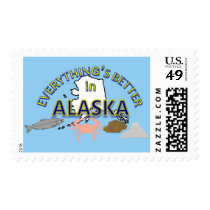 Everything's Better in Alaska Postage