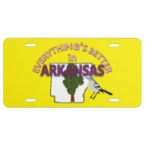 Everything's Better in Arkansas Graphics License Plate