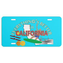 Everything's Better in California Graphics License Plate