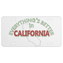 Everything's Better in California License Plate