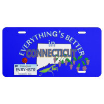 Everything's Better in Connecticut Graphics License Plate