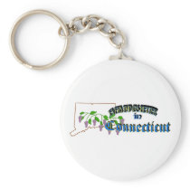 Everything's Better in Connecticut Keychain