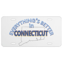 Everything's Better in Connecticut License Plate