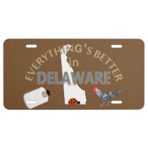 Everything's Better in Delaware Graphics License Plate