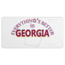Everything's Better in Georgia License Plate