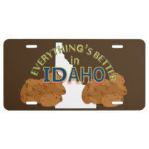 Everything's Better in Idaho Graphics License Plate