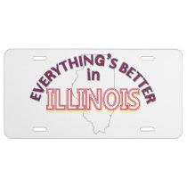 Everything's Better in Illinois License Plate