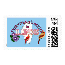 Everything's Better in Illinois Postage