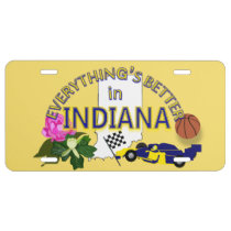 Everything's Better in Indiana Graphics License Plate
