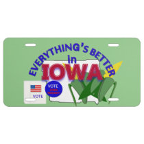 Everything's Better in Iowa Graphics License Plate