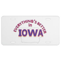 Everything's Better in Iowa License Plate
