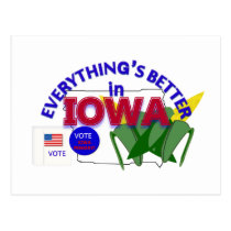 Everything's Better in Iowa Postcard