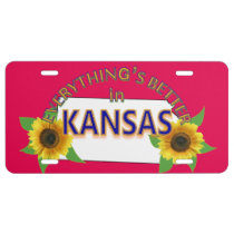 Everything's Better in Kansas Graphics License Plate