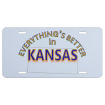 Everything's Better in Kansas License Plate
