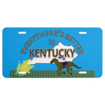 Everything's Better in Kentucky Graphics License Plate