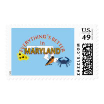 Everything's Better in Maryland Postage