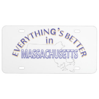Everything's Better in Massachusetts License Plate
