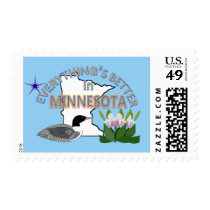 Everything's Better in Minnesota Postage