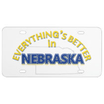 Everything's Better in Nebraska License Plate