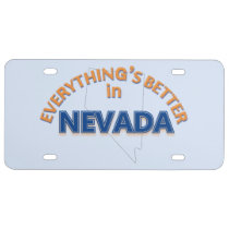 Everything's Better in Nevada License Plate