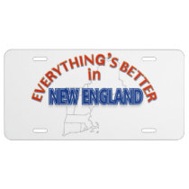 Everything's Better in New England License Plate