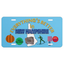 Everything's Better in New Hampshire License Plate