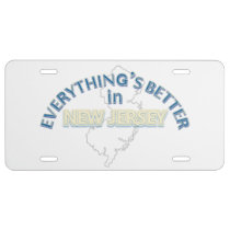 Everything's Better in New Jersey License Plate