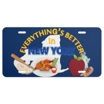 Everything's Better in New York Graphics License Plate