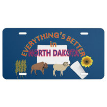 Everything's Better in North Dakota Graphics License Plate