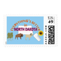 Everything's Better in North Dakota Postage