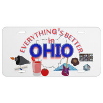 Everything's Better in Ohio Graphics License Plate