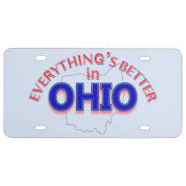 Everything's Better in Ohio License Plate