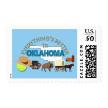 Everything's Better in Oklahoma Postage