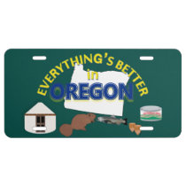 Everything's Better in Oregon Graphics License Plate