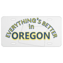 Everything's Better in Oregon License Plate