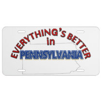 Everything's Better in Pennsylvania License Plate