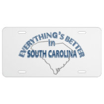 Everything's Better in South Carolina II License Plate