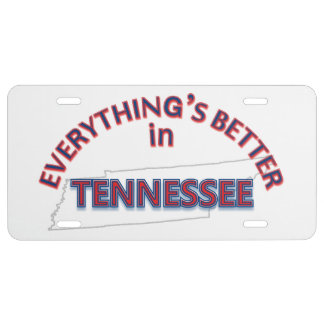 Everything's Better in Tennessee License Plate