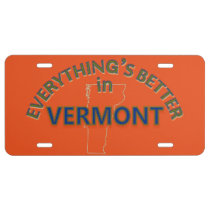 Everything's Better in Vermont License Plate