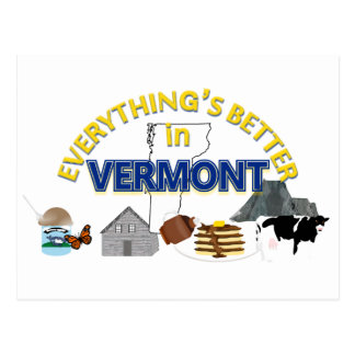 Everything's Better in Vermont Postcard