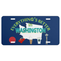 Everything's Better in Washington Graphics License Plate