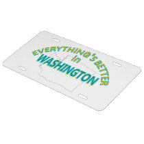 Everything's Better in Washington License Plate