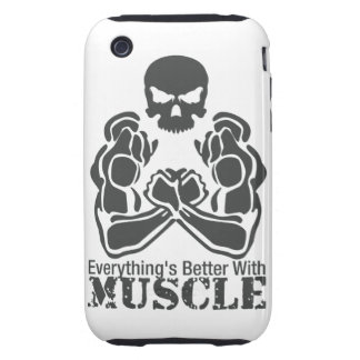 Everything's Better With MUSCLE Iphone Case Tough iPhone 3 Covers
