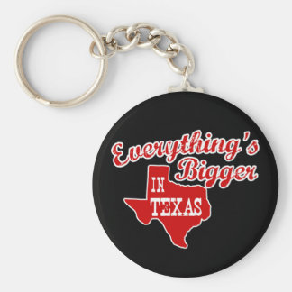 Everything's bigger in Texas | Red Black Key Chain