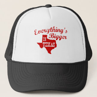 Everything's bigger in Texas State Shape Cap Hat