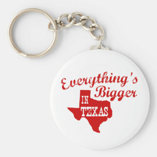 Everything's bigger in Texas State Shape Key Chain
