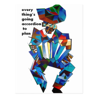 Everything's Going Accordion To Plan Postcard