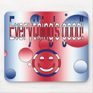 Everything's Good! Britain Flag Colors Pop Art Mouse Pad