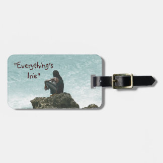 """EVERYTHING'S IRIE, MON"", CARIBBEAN SCENE LUGGAGE TAG"